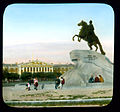 Saint Petersburg. Peter the Great Monument (The Bronze Horseman) on Senatskaia Ploshchad', with the Admiralty Building in the back 2.jpg