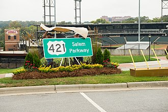 Interstate 40 Business (North Carolina) - Salem Parkway unveiling