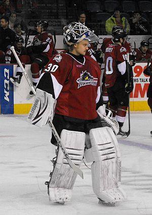Sami Aittokallio - Aittokallio with Lake Erie Monsters during 2013–14 AHL season.