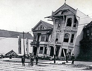 Houses damaged by 1906 San Francisco Earthquake