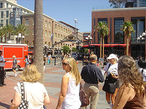 Description: Entrance to the San Diego Gaslamp...