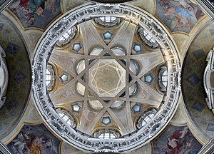 Church of San Lorenzo, Turin - Interior view of cupola.