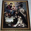 San jacopino, interno, madonna del rosario e santi domenicani, bottega di Jacopo Vignali.JPG