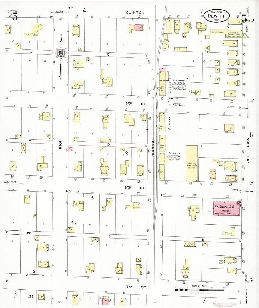 File Sanborn Fire Insurance Map From De Witt Clinton County Iowa