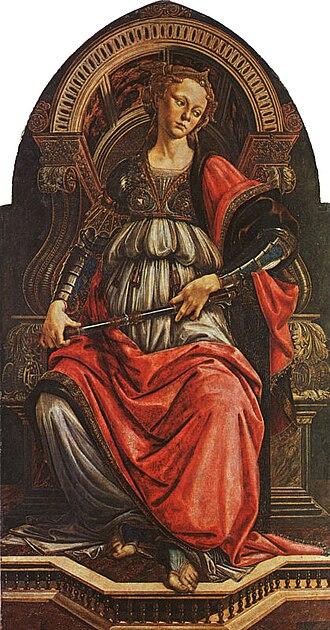 Fortitude (Botticelli) - Image: Sandro Botticelli Fortitude (Uffizi)