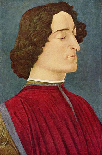 Gentile de' Becchi - Giuliano de' Medici died in the Pazzi conspiracy. Botticelli (1478)