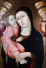 Vierge à l'Enfant avec quatre Anges