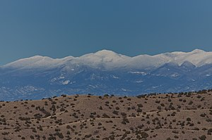 Santa Fe Baldy - With fresh snow, January 2010