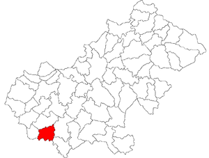 Săuca - Location of Săuca in Satu Mare County