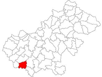 Săuca - Location of Săuca in Satu Mare County