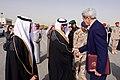 Saudi Protocol Representative Greets Secretary Kerry (31679483686).jpg