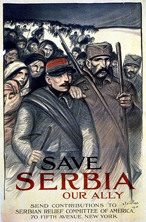 Serbophilia - Image: Save Serbia poster 1915