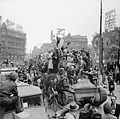 Scenes of jubilation as British troops liberate Brussels, 4 September 1944. BU508.jpg