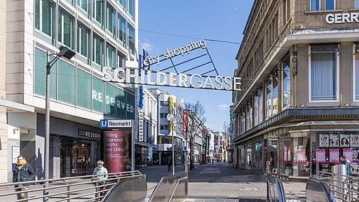 Schildergasse, Köln - Dienstagnachmittag während der COVID-19-Pandemie-6332