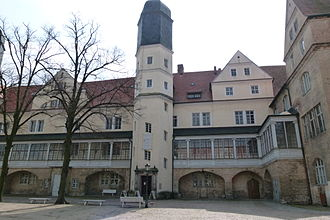 Köthen (Anhalt) - The southern wing of the palace (Ludwigsbau). It holds the Hall of Mirrors and the chapel.