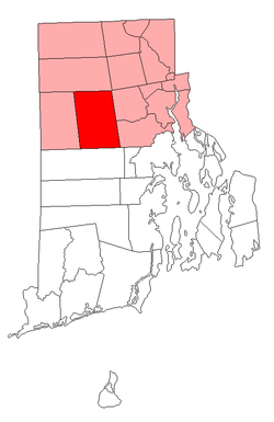 Location of Scituate in Providence County, Rhode Island