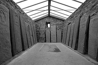 Stone carving - The Kilmartin Stones in Scotland - a collection of ancient stone carved graveslabs