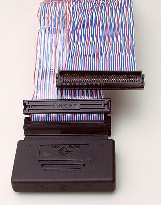 Twisted pair - Twisted ribbon cable used for SCSI connections