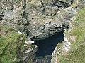 Sea cave at Castle O' Burrian - geograph.org.uk - 954026.jpg