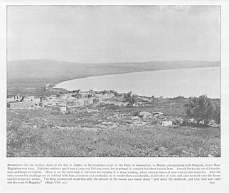Magdala - 1894 photo of site of Magdala on the Sea of Galilee