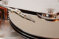 Seagate ST33232A hard disk head and platters detail.jpg