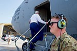 Secretary Kerry Boards the C-17 Aircraft in Manama for a Flight to Baghdad (26237231621).jpg
