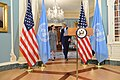 Secretary Kerry and UNHCR Special Envoy Jolie Pitt Walk Out to Address the Press (27770165736).jpg