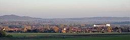 Blick vom Ostrand des Hainbergs auf Sehlde, Landkreis Wolfenbüttel