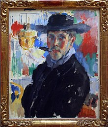 Self-portrait with Cigar.JPG