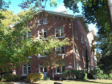 Selinsgrove Hall in October 2009, listed on the National Register of Historic Places in 1979. It is the oldest building on campus. Selinsgrove Hall Oct 09.JPG