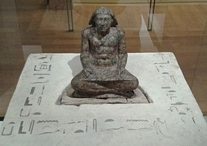 Djedefre - Statue of Setka inscribed with his name and titles, Musée du Louvre.