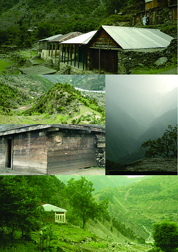 ===From top to down clockwise=== GPS Peeranokilay, beautiful view of mountains from Bhoin, proposed Middle School for boys Shaikhdara, typical house at Bhoin Shaikhdara, Dongue mountain Shaikhdara