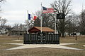 Sheffield Iowa 20090322 Memorial w Flags.JPG