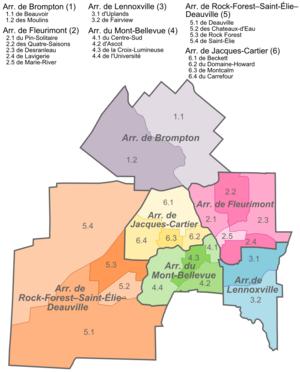 Lennoxville, Quebec - Image: Sherb politique