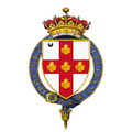 Shield of Arms of George Villiers, 6th Earl of Clarendon, KG, GCMG, GCVO, PC.png