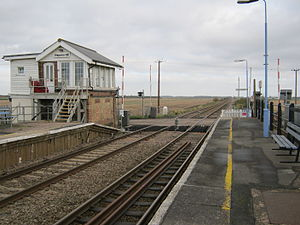Shippea Hill station, old signal box and crossing (November 2012).jpg