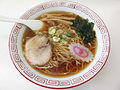 Shoyu ramen, at Kasukabe Station (2014.05.05) 1.jpg