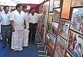 Shri E.G. Sugavanam, MP and the District Collector, Krishnagiri, Dr. V.K. Shanmugam visit the exhibition at Bharat Nirman Public Information Campaign, at Krishnagiri in Tamil Nadu on February 11, 2009.jpg