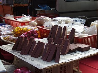 Shrimp paste - Belacan in a market of Malaysia