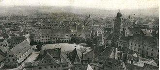 Sibiu County - Panoramic view of Sibiu in 1928.