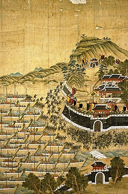 The Siege of Busan Castle.
