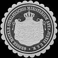 Siegelmarke Gr. Mecklenburg. Strelitzsche Ministerium Abt. für Justiz u.s.w. W0393798.jpg