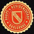 Siegelmarke Haupt- und Residenzstadt - Karlsruhe - Fidelitas W0232858.jpg