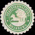 Siegelmarke Stadtverwaltung Bojanowo W0331412.jpg