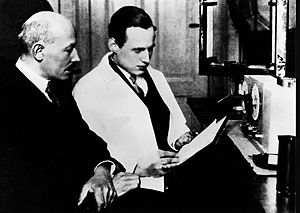 Loewe (electronics) - Image: Siegmund Loewe & Manfred von Ardenne