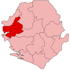 Location of Port Loko District in Sierra Leone