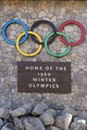 """Sign """"Home of the 1960 Winter Olympics"""" at the Village at Squaw Valley, a year-round Sierra Mountain resort in Olympic Valley, west of Tahoe City, California LCCN2013633545.tif"""
