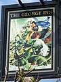 Sign for the George Inn, Finchdean - geograph.org.uk - 804307.jpg