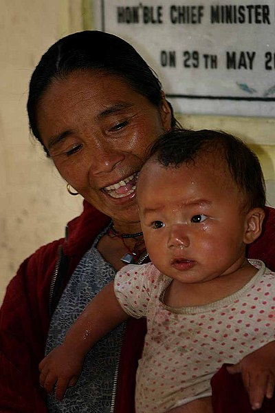 File:Sikkim mother and child.jpg