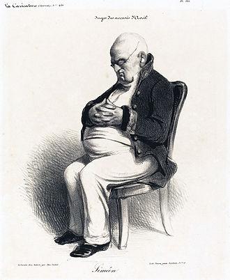Joseph Jérôme, Comte Siméon - Caricature by Honoré Daumier, 1835.